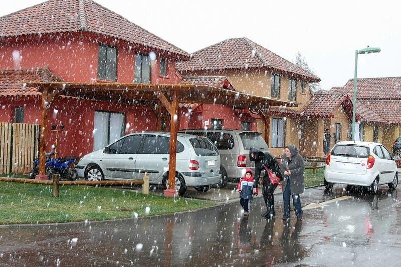 Nieve y agua nieve llegará este fin de semana a la zona central