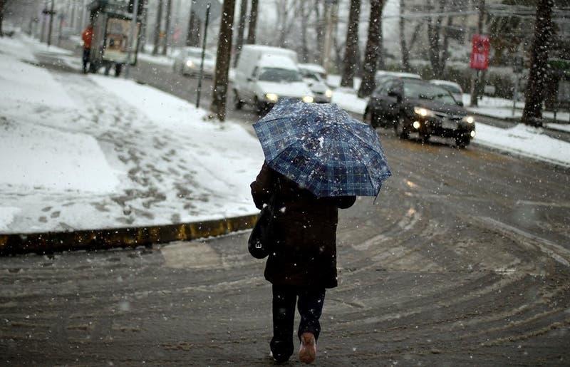 Precipitaciones en la zona central: Dónde caerá nieve y agua nieve esta semana