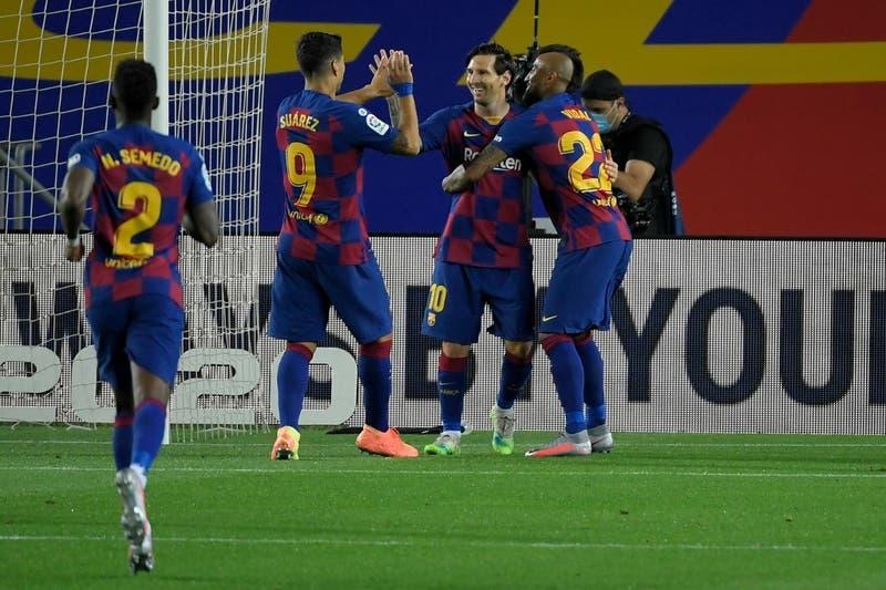 Arturo Vidal juega 30 minutos en nuevo triunfo del Barcelona en La Liga
