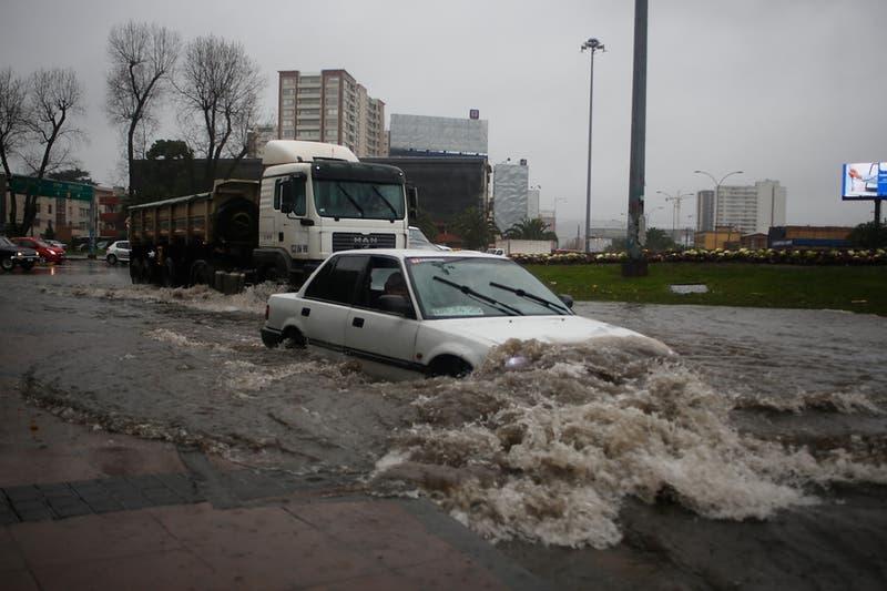 Alerta amarilla para parte de la provincia de Concepción por lluvia y fuertes vientos