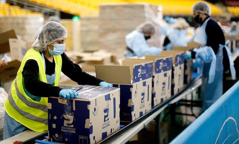"""""""Alimentos para Chile"""": Gobierno anuncia entrega de 3 millones de nuevas cajas de alimentos"""