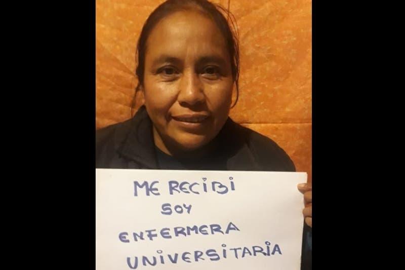 Mujer indígena logra su sueño y consigue su título de enfermera tras rendir examen por Zoom