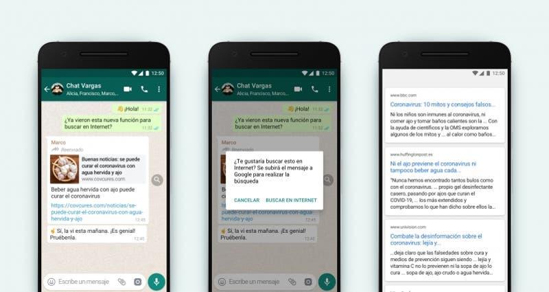 La nueva opción de WhatsApp para identificar noticias falsas