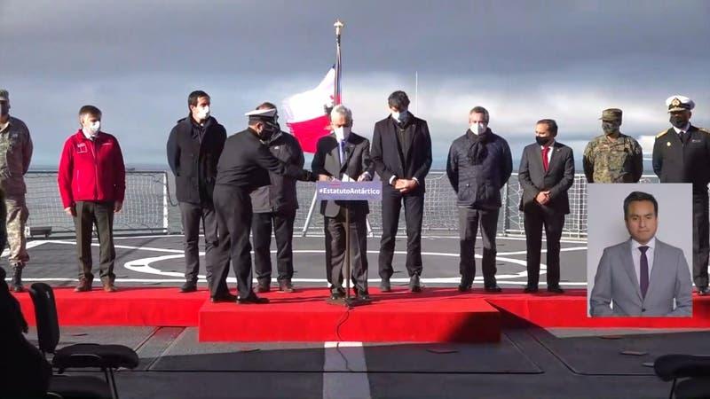 Presidente Piñera reafirma soberanía en la Antártica