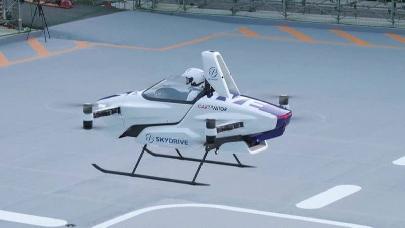 Exitosa prueba de auto volador con un conductor en Japón: Podría comercializarse en 2023