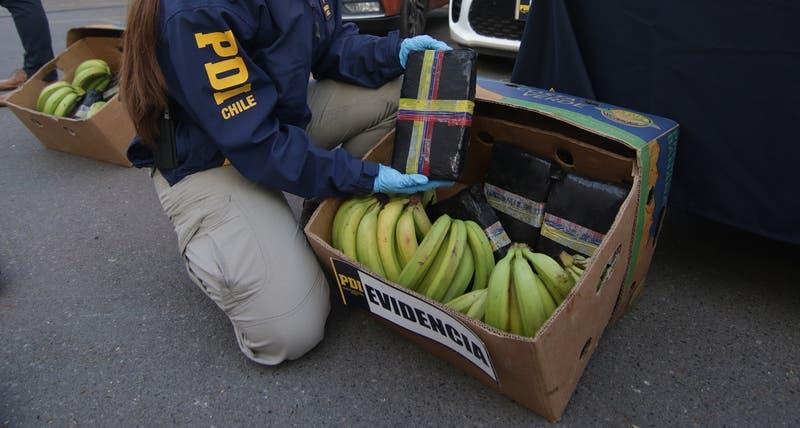 PDI desarticula banda criminal trasnacional que traía marihuana en cajas de plátano a Chile