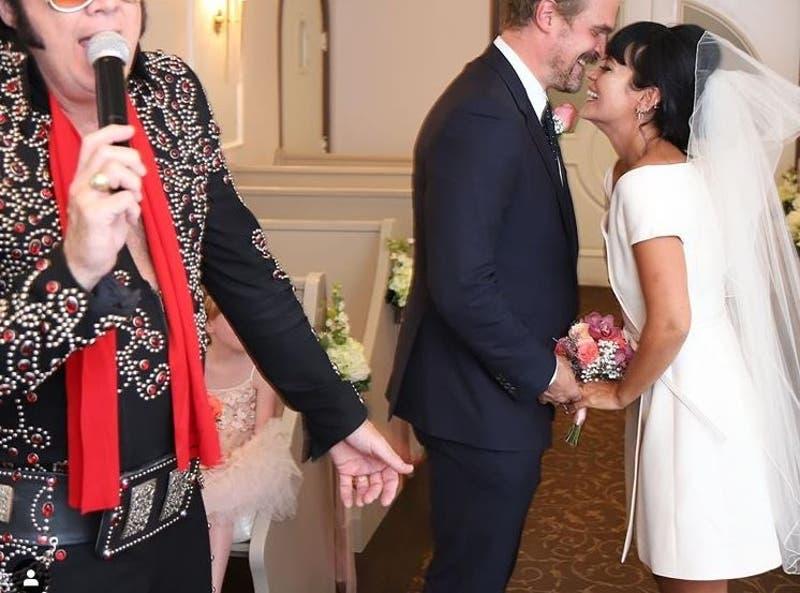 David Harbour (Stranger things) y Lily Allen se casaron