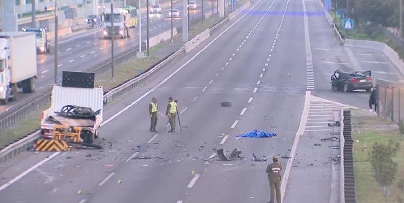 Un muerto deja accidente tránsito a la altura de Calera de Tango en Autopista Central