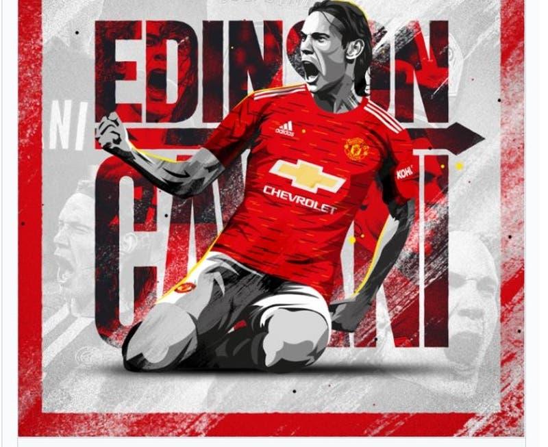 Manchester United oficializa la llegada de Edinson Cavani