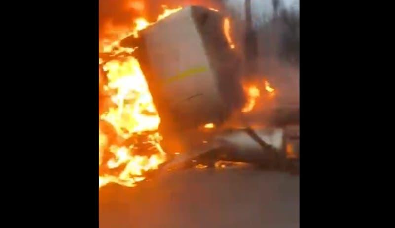 Camión se incendió en el sector de Peñuelas en la Ruta 68