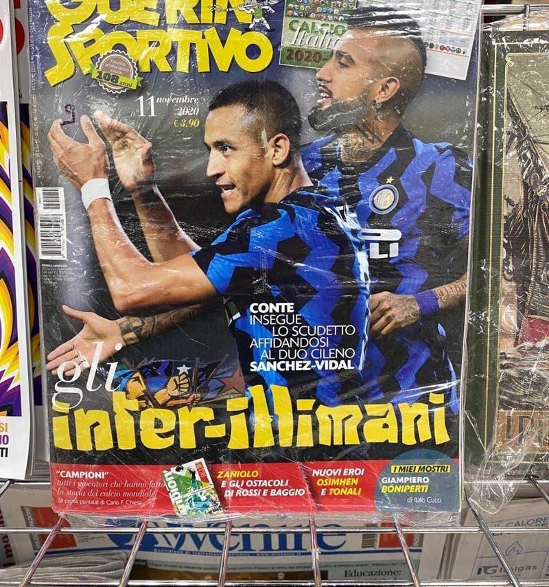 """""""Inter-Illimani"""": Revisa italiana destaca a la dupla Sánchez-Vidal en su portada"""