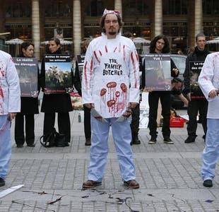 Insólita batalla campal entre veganos y carniceros en Argentina