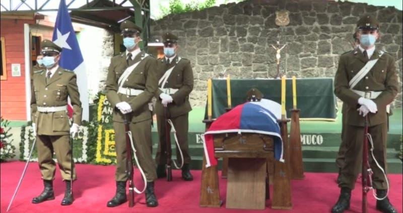 [VIDEO] Realizan velorio de carabinero que murió tras ser baleado en La Araucanía