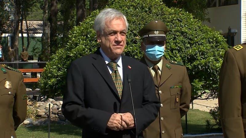 """Piñera por asesinato de carabinero en La Araucanía: """"Este crimen no va a quedar impune"""""""