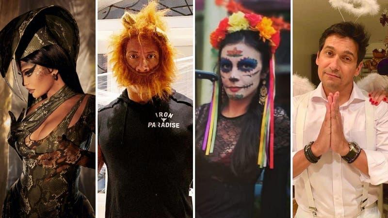 Los llamativos disfraces que dejaron las celebridades de Chile y el mundo en este Halloween 2020