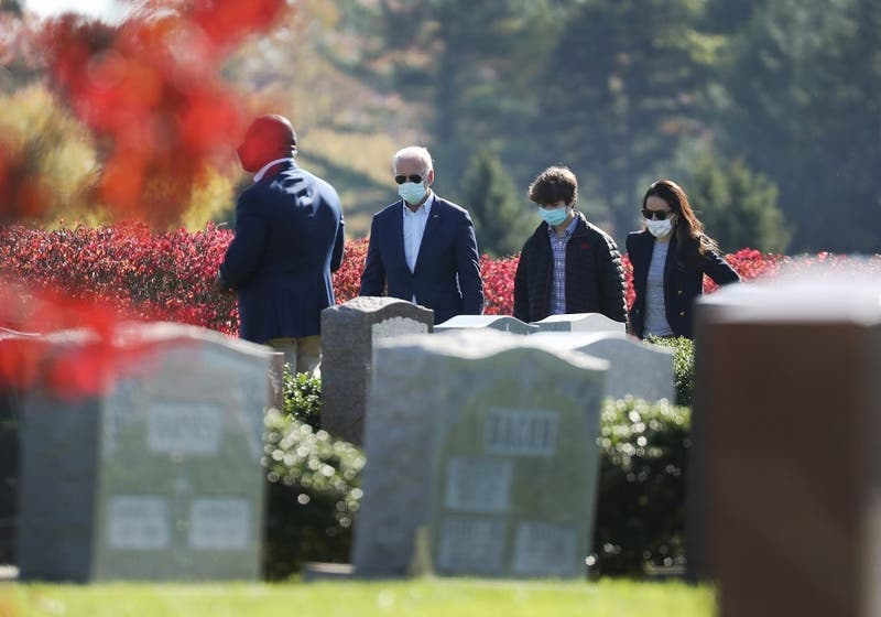 [FOTOS] Joe Biden visita tumba de familiares tras ganar las elecciones presidenciales