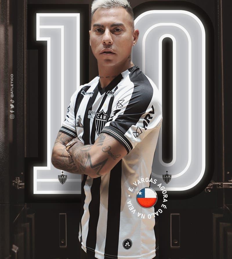 """""""La 10 ya tiene su nuevo dueño"""": Vargas lucirá camiseta que vistió Ronaldinho en Atlético Mineiro"""