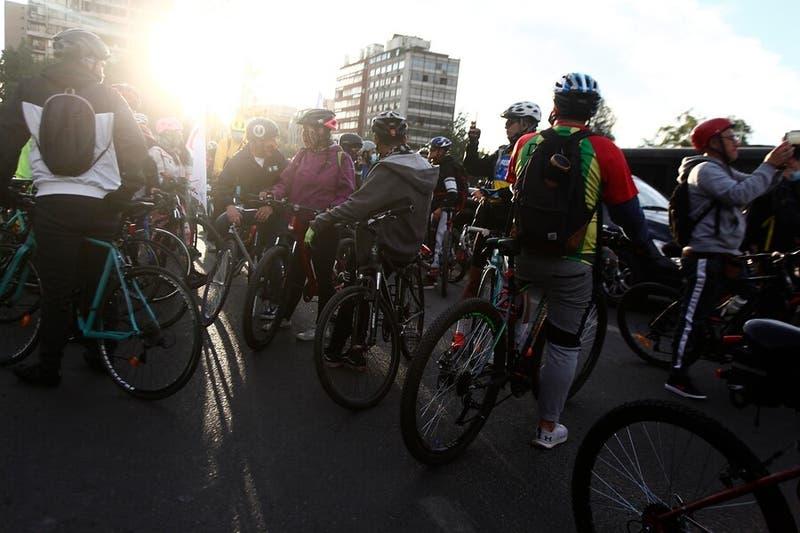 Ciclistas protestan en Providencia tras muerte de una joven atropellado por transantiago