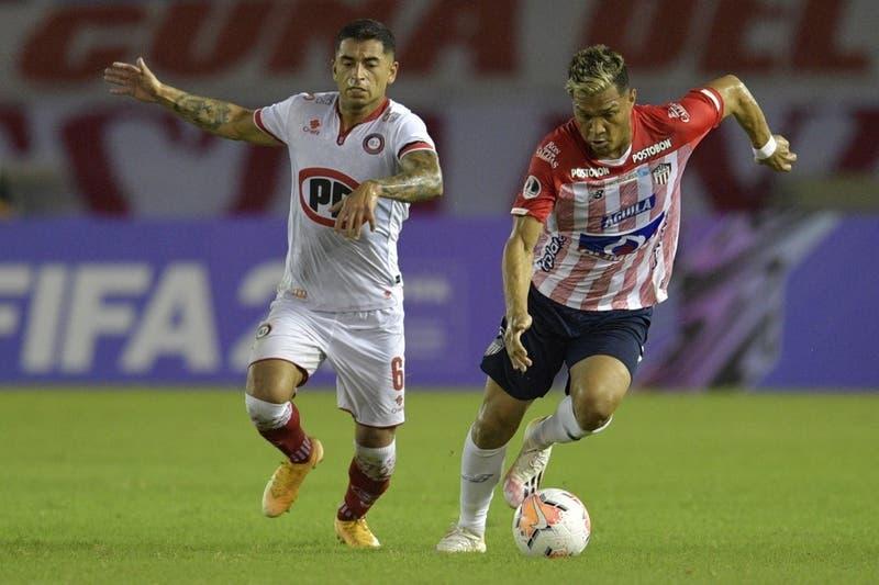Sudamericana: La Calera cae ante Colombiano Junior en el partido de ida de los octavos de final