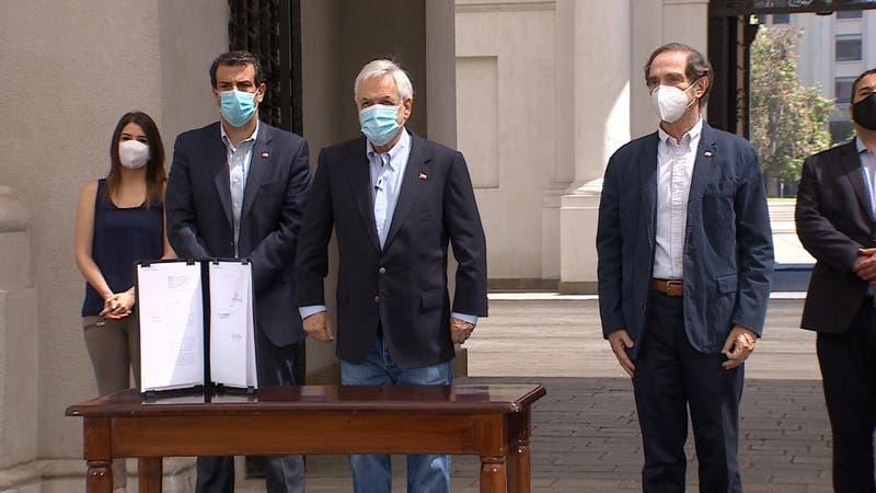 Piñera firma proyecto de ley contra el crimen organizado