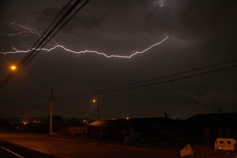 Alerta temprana para la región de Magallanes por tormentas eléctricas para el fin de semana