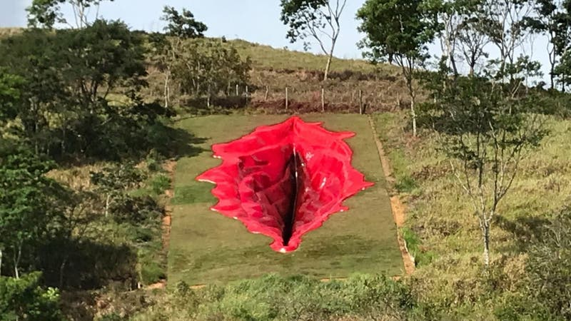 Controversia en Brasil por escultura con forma de vulva humana