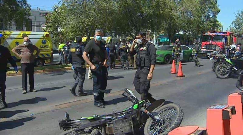 Reportan balacera que habría dejado al menos dos carabineros heridos en Providencia