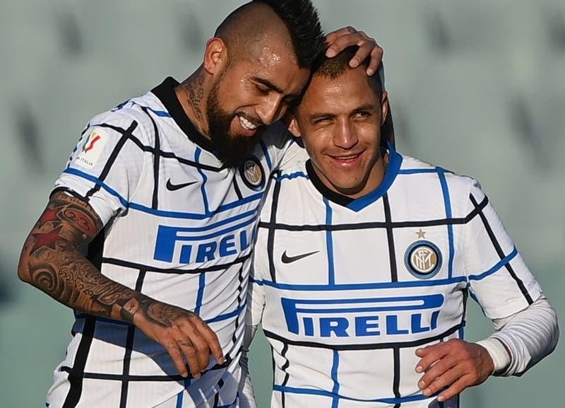 Inter avanza en la Copa Italia tras victoria sobre la Fiorentina con gol de Arturo Vidal