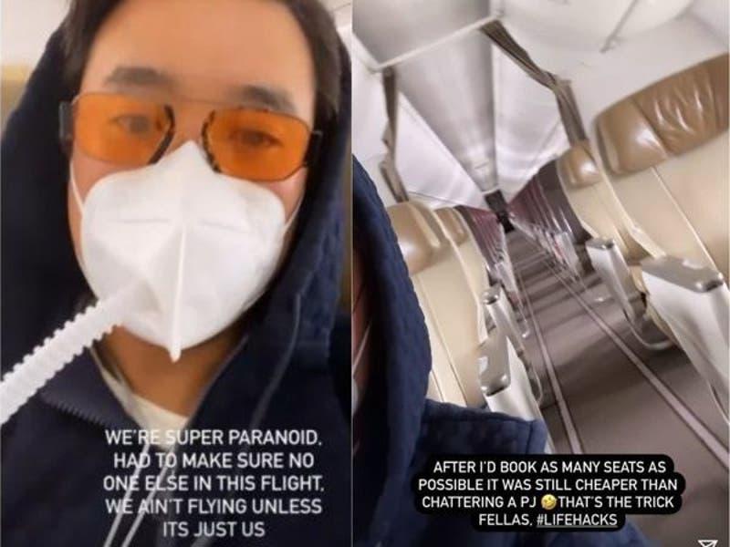 Millonario afirma que compró todos los pasajes de un vuelo para no contagiarse de COVID-19