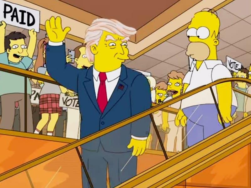 Los Simpson predicen llegada de Kamala Harris y salida de Trump