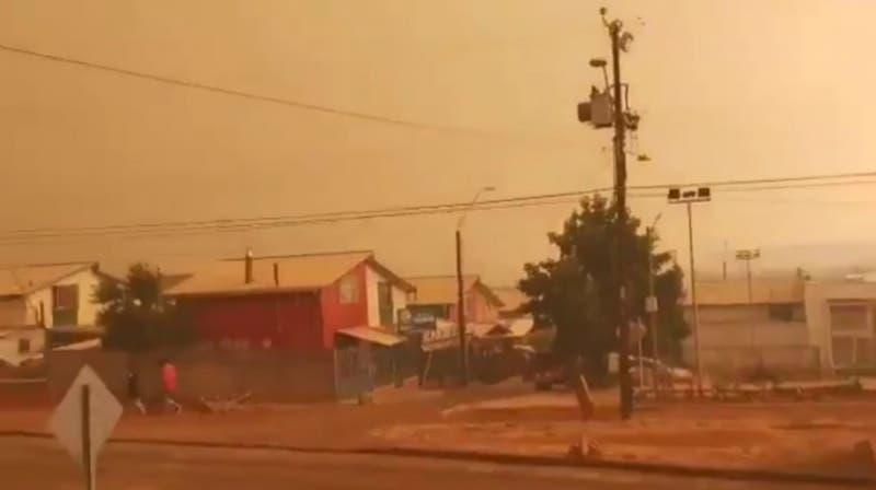[FOTOS Y VIDEOS] Los registros de incendio provocó evacuación hacia Collipulli