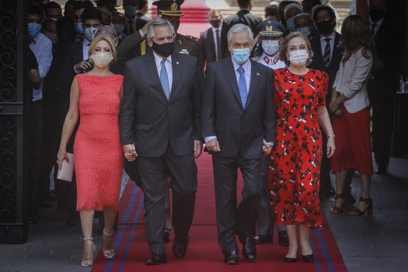 Presidente de Argentina Alberto Fernández llegó a Chile e inicia su primera visita de Estado