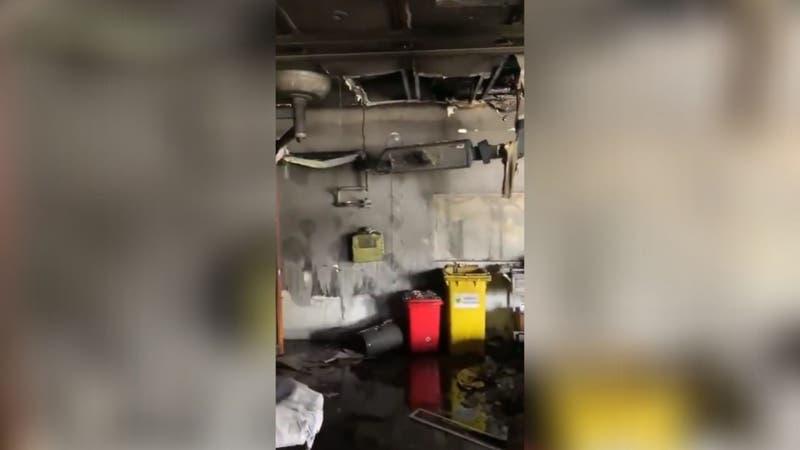 """[VIDEO] """"Tremenda pérdida"""": Revelan cómo quedó el interior del Hospital San Borja tras el incendio"""