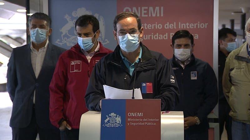 Sistema frontal: Onemi reporta 149 damnificados y 36 mil clientes sin suministro eléctrico