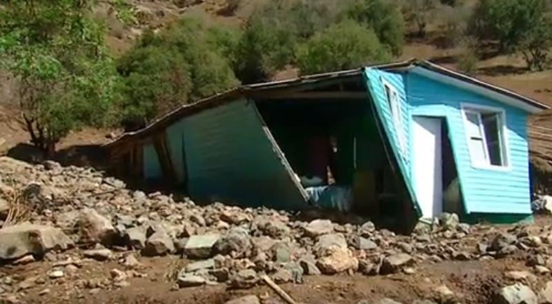 Así fue el aluvión en Malloa que dejó a más de cien damnificados