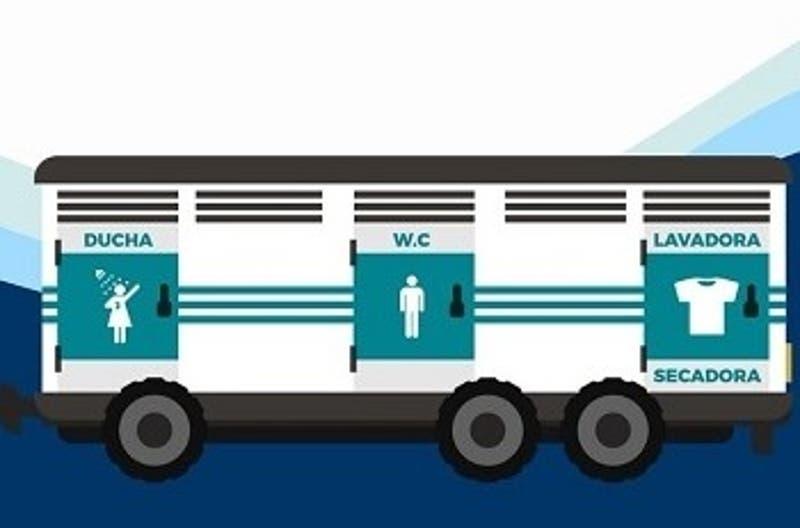 Presentan camión con ducha, baño y lavandería que servirá a personas en situación de calle