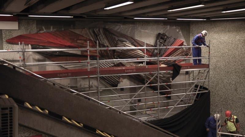 [VIDEO] El arte y donaciones de vecinos inspiran obra en el Metro