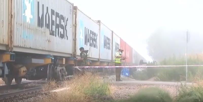 Conductor murió tras colisionar con tren de carga en Padre Hurtado