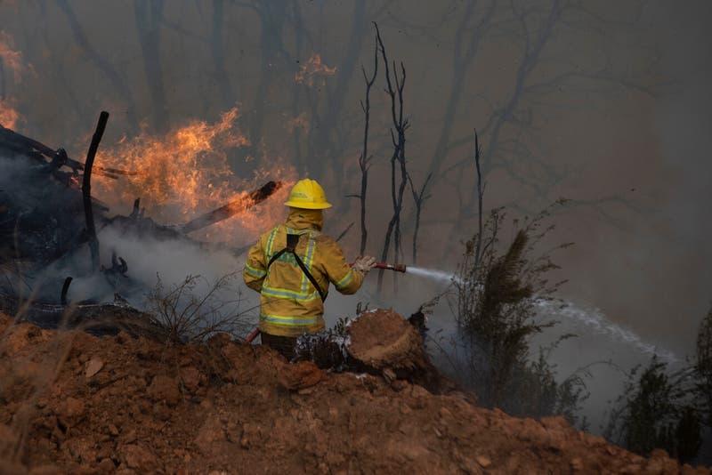 Onemi declara alerta roja en Los Ángeles por incendio forestal