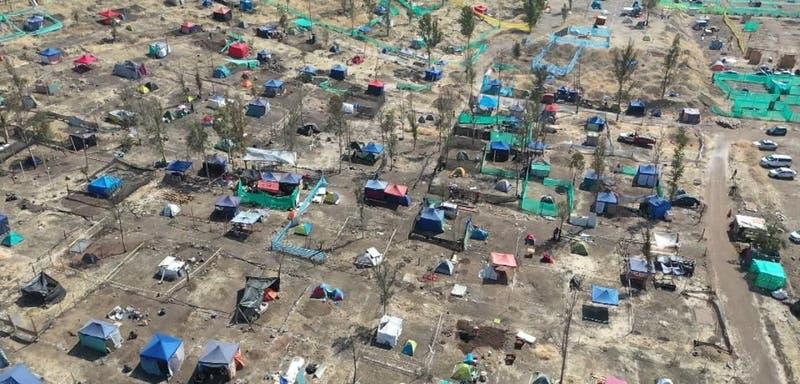 Carabineros desaloja toma de terrenos en faldeos del Cerro Renca