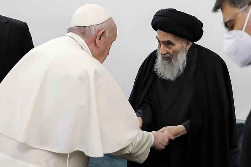 Papa Francisco y ayatolá Sistani abogan por la paz en histórico encuentro en Irak