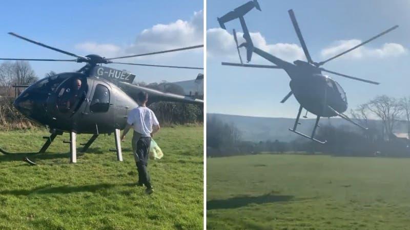 [VIDEO] Piloto no respetó cuarentena y voló 128 kilómetros en helicóptero para comprar un sándwich