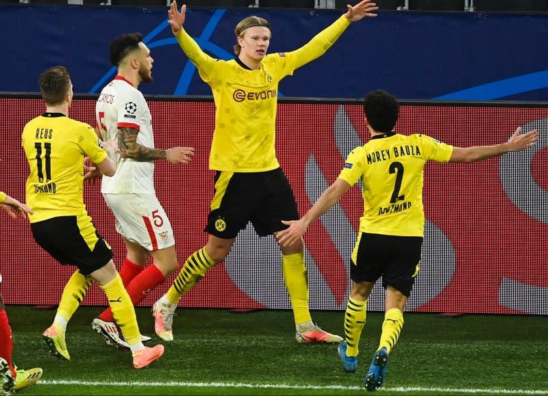 Borussia Dortmund iguala ante Sevilla y se instala en los cuartos de final de la Champions League