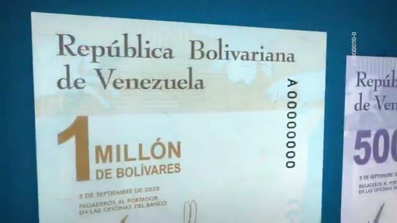 Un millón de bolívares: El billete que vale 370 pesos chilenos