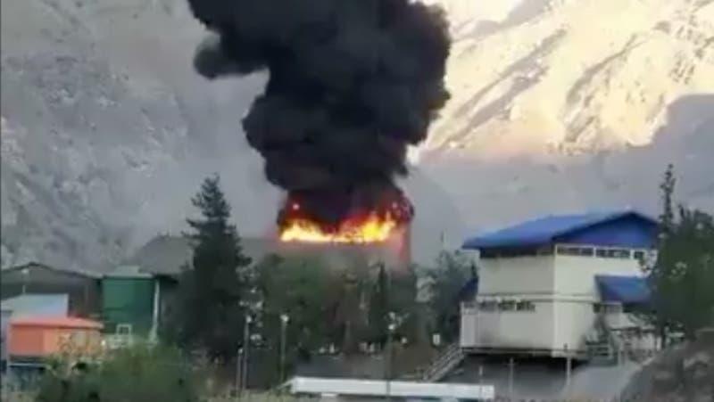 Codelco descarta emanación de gases tóxicos tras incendio en División Andina