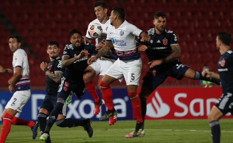 La U se complica en la Libertadores tras igualar 1-1 ante San Lorenzo en el Nacional