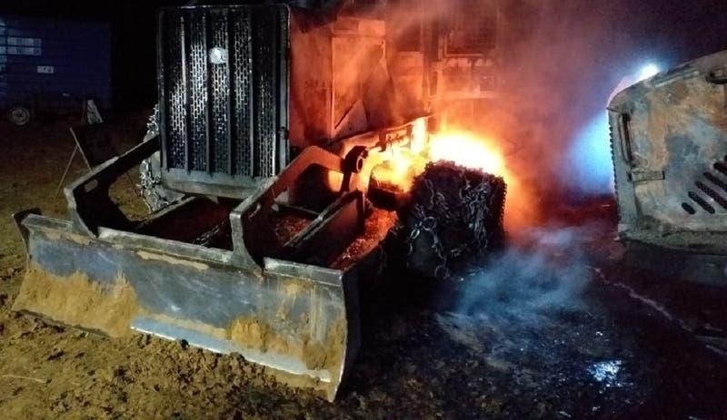 Cuatro máquinas forestales resultaron quemadas tras ataque incendiario en Arauco