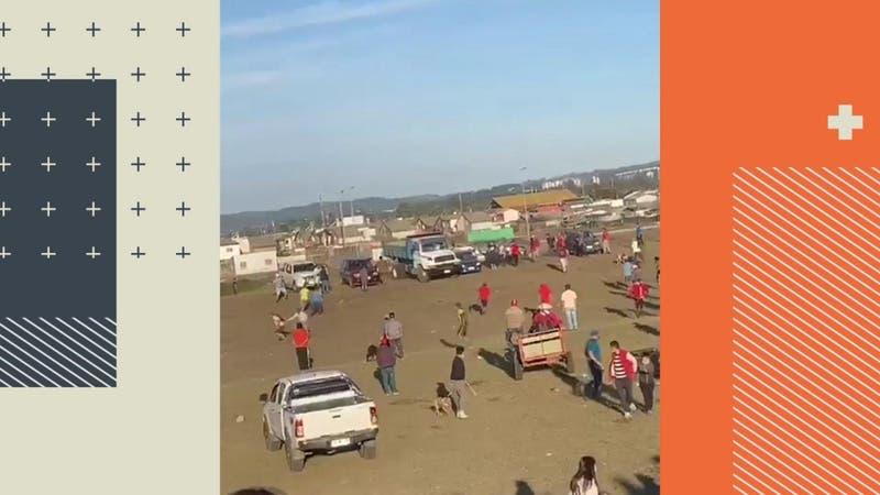[VIDEO] Camionero fue baleado tras riña en carrera a la chilena clandestina