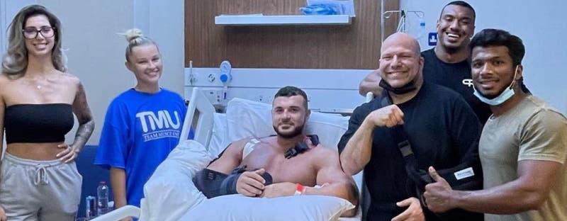Fisicoculturista sufre escalofriante lesión y su entrenador pide donaciones para la cirugía