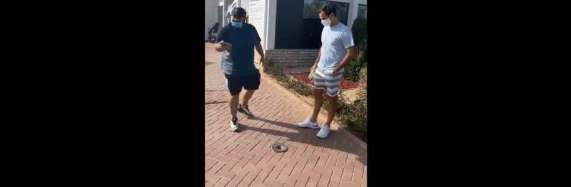 Fanático le pidió una selfie a Roger Federer en medio de la pandemia y así reaccionó el tenista